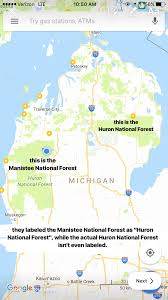 Battle Creek Michigan Map by Mislabeled National Forests On Google Maps Please Help Me Fix It