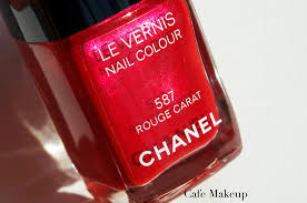 chanel rouge carat nail polish review café makeup