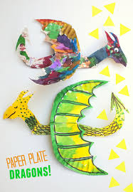 Easy Arts And Crafts For Kids With Paper - how to make colorful and fun flying paper plate dragons pink