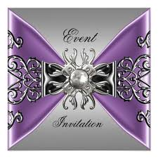 Purple And Silver Wedding Purple And Silver Wedding Invitation Alesi Info