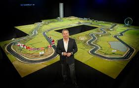 koenigsegg scalextric f1 driver martin brundle designed world u0027s largest scalextric track