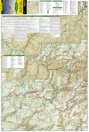 Telluride Colorado Map by Telluride Silverton Ouray Lake City National Geographic Trails