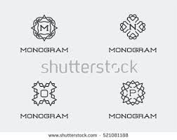 monogram letter monogram letter m stock images royalty free images vectors
