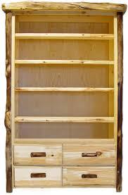 Natural Wood Bookcase Lodge Bookcase Cabin Shelving Unit Mountain Furniture Log