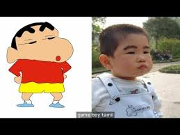 shinchan characters in real life youtube