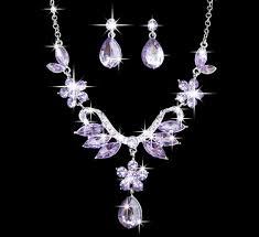 rhinestone necklace earrings images Women 39 s jewelry set rhinestone necklace earrings wedding party JPG