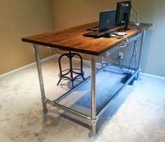 Industrial Standing Desk by Pipe And Plank Standing Desk Pipes Desks And Learning