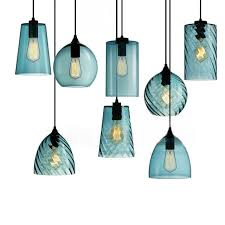 turquoise blue glass pendant lights 2017 new design coffee bar blue glass pendant l dinning room