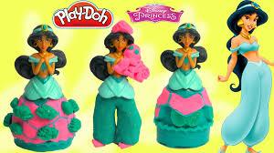 playdoh mix u0027 match disney princess jasmine aladdin play doh
