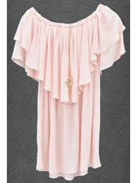 blouse with accessory apricot color