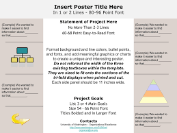 It Project List Template Insert Poster Title Here In 1 Or 2 Lines Point Font Statement Of