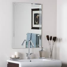 Mirrored Bathroom Accessories - versatility frameless bathroom mirror accessory inspiration home