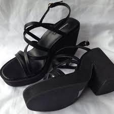 windsor smith 8 5 u0027posh u0027 black strappy sandals rrp 129 95 4