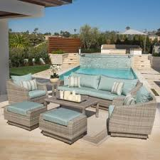 High Back Sectional Sofas by High Back Outdoor Sofas Chairs U0026 Sectionals Shop The Best Deals