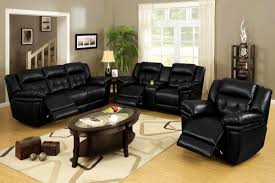 Small Black Leather Chair Apartments Enchanting Black Leather Sofa Living Room Decoration