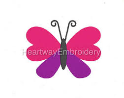 butterfly embroidery etsy