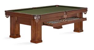 brunswick 7ft pool table brunswick oakland pool table chestnut 8ft with drawers for sale at