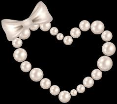 pearl bow necklace images Pearl heart with bow transparent png clip art image gallery png