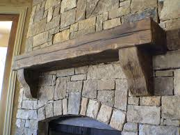 rustic mantel on stack stone rustic fireplace mantels