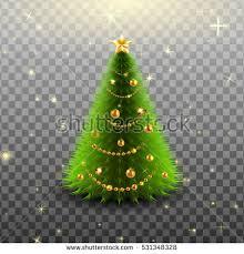 glowing big beautiful tree golden stock vector hd royalty
