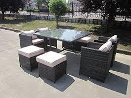 tavoli da giardino rattan mobili da esterno per giardino e veranda in vimini rattan set