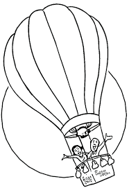 air balloon outline images picture black white vintage