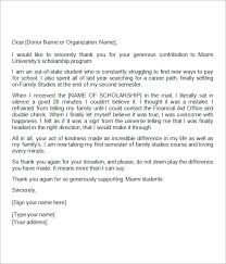 ideas collection how to write a good scholarship thank you letter