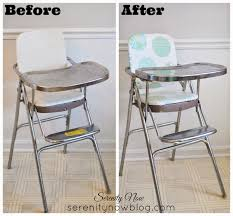 High Chair That Sits On Chair Serenity Now Vintage Stainless Steel High Chair Makeover