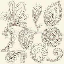 paisley printable pen doodles and embroidery