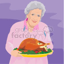royalty free an holding a large thanksgiving turkey ready