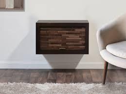wall mount hidden storage floating nightstands eco geo espresso