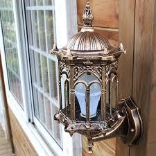 Antique Brass Outdoor Wall Lights by Outdoor Bronze Antique Exterior Wall Light Fixture Aluminum Glass