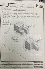 isometric sketches reflection