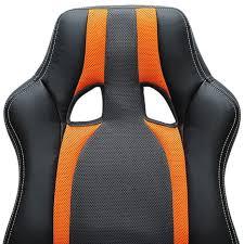fauteuil siege baquet fauteuil chaise de bureau ergonomique gamer pc siège noir rembourée
