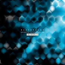 blue pattern background abstract blue black hexagon pattern background design 123freevectors