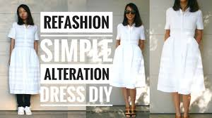 simple dress alteration refashion diy how to alter your own