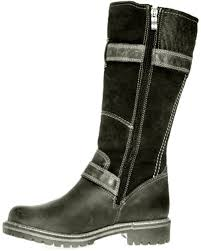 buy boots trendy black color leather boots tamaris tamaris premium leather suede 100 sheep wool lined shower