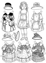 205 paper doll colouring printables images