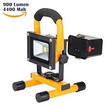 10w work light loftek portable led outdoor flood light and