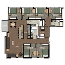 6 bedroom floor plans apartment floor plans 229 at lakelawn