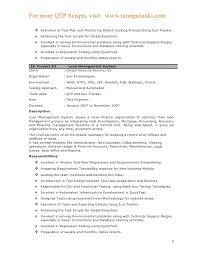 Example Format Of Resume by Qtp Sample Resume