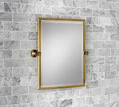 brass bathroom mirrors bathroom vanity mirrors pottery barn