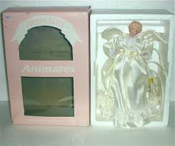 vintage ani mates animated flapping wings light up angel christmas