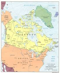 Northern Canada Map by