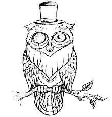 owl tattoo flash outline