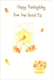 birdhouse secret pal thanksgiving card by freedom greetings
