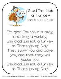 glad i m not a turkey song songs therapy and thanksgiving