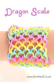 bracelet looms bands images Dragon scale loom band bracelet tutorial jpg