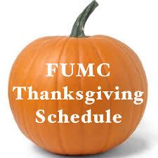 fumc thanksgiving week schedule united methodist