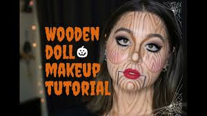 wooden doll makeup tutorial zenna youtube
